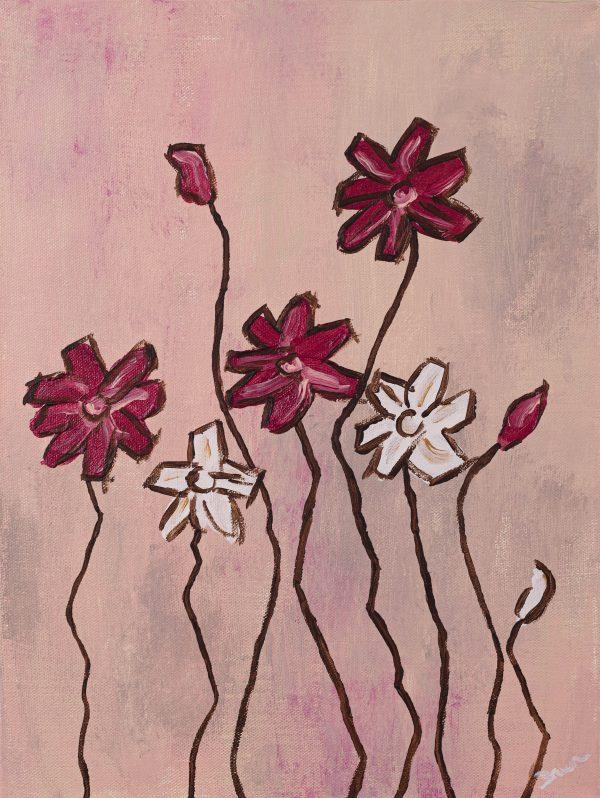 Wildflowers III Acrylic Painting by Dawn M. Wayand