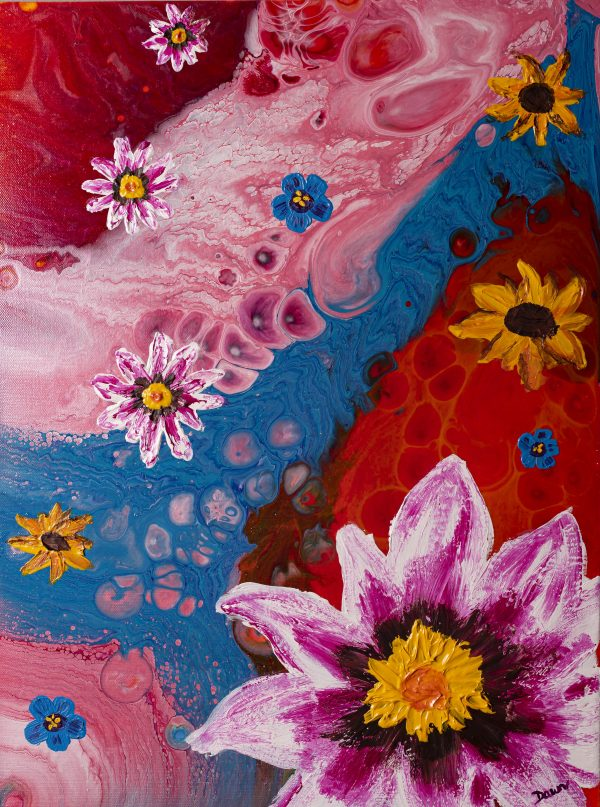 Floral Parade I Acrylic Painting by Dawn M. Wayand