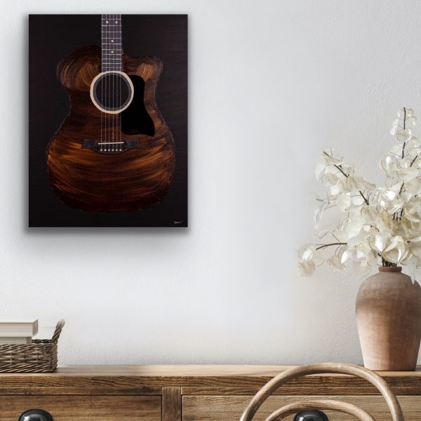 Acoustic V Acrylic and Mixed Media Painting by Dawn M. Wayand