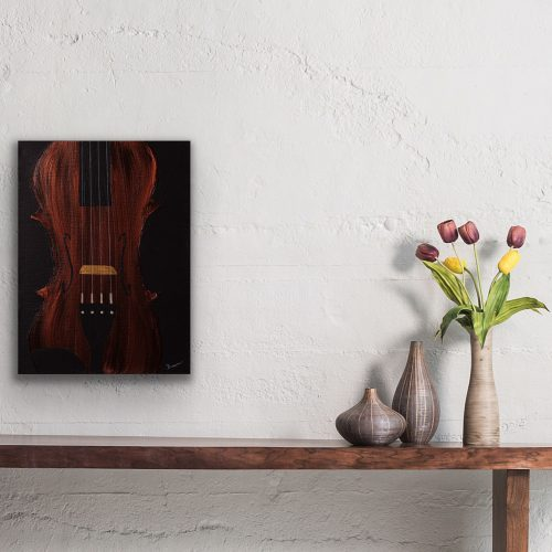 Violin Candid I Acrylic Painting by Dawn M. Wayand